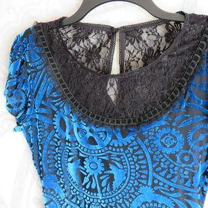 Miss Peregrine's Velvet Burnout Dress S